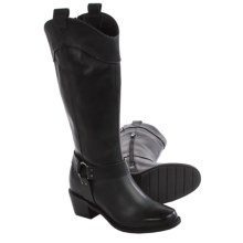 Hush Puppies Simone Cordell Boots - Leather (For Women) in Black Leather - Closeouts
