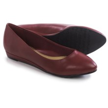 Hush Puppies Soft Style Darlene Shoes - Leather, Wedge Heel (For Women) in Dark Red - Closeouts