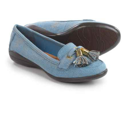 Hush Puppies Soft Style Denise Moccasins (For Women) in Washed Denim - Closeouts