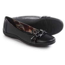 Hush Puppies Soft Style Hava Flats - Leather (For Women) in Black - Closeouts