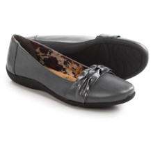 Hush Puppies Soft Style Hava Flats - Leather (For Women) in Dark Grey - Closeouts
