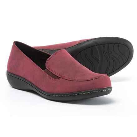 Hush Puppies Soft Style Jaylene Moc Shoes - Slip-Ons (For Women) in Bordeaux - Closeouts