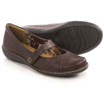 Hush Puppies Soft Style Jayne Mary Jane Shoes - Leather (For Women) in Dark Brown - Closeouts