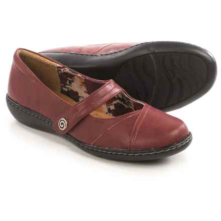 Hush Puppies Soft Style Jayne Mary Jane Shoes - Leather (For Women) in Dark Red - Closeouts