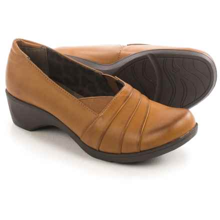 Hush Puppies Soft Style Kambra Shoes - Vegan Leather, Slip-Ons (For Women) in Tan Capara Burnished - Closeouts