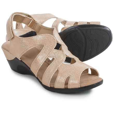 Hush Puppies Soft Style Patsie Wedge Sandals (For Women) in Bone Cambric - Closeouts