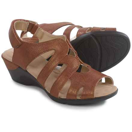 Hush Puppies Soft Style Patsie Wedge Sandals (For Women) in Tan Cambric - Closeouts