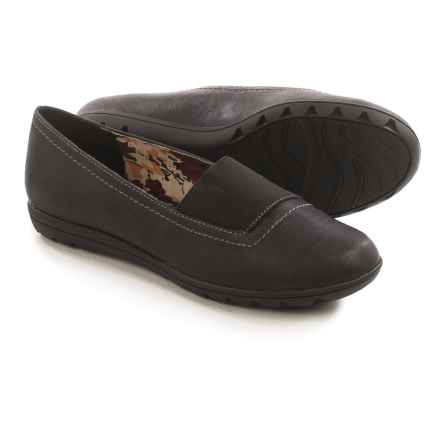 Hush Puppies Soft Style Varya Shoes - Leather, Slip-Ons (For Women) in Black - Closeouts