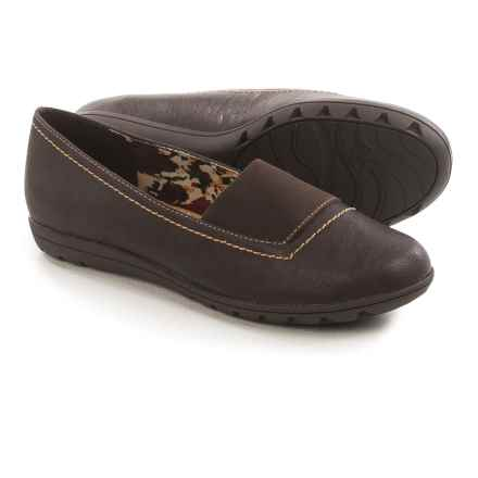 Hush Puppies Soft Style Varya Shoes - Leather, Slip-Ons (For Women) in Dark Brown - Closeouts
