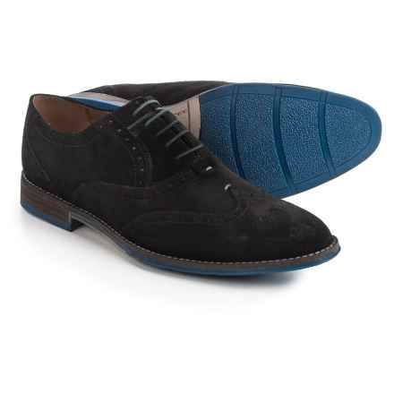 Hush Puppies Style Brogue Oxford Shoes - Suede (For Men) in Black Suede - Closeouts