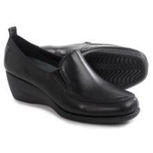 Hush Puppies Vanna Cleary Shoes - Leather, Slip-Ons (For Women) in Black - Closeouts