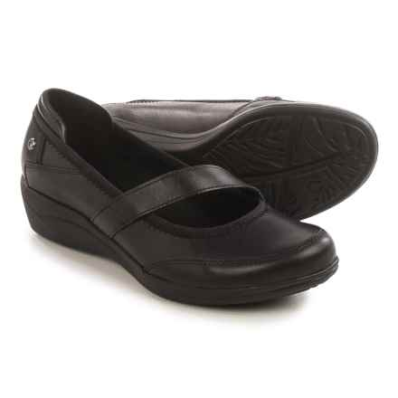 Hush Puppies Velma Oleena Mary Jane Shoes - Leather (For Women) in Black - Closeouts