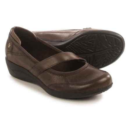 Hush Puppies Velma Oleena Mary Jane Shoes - Leather (For Women) in Dark Brown - Closeouts