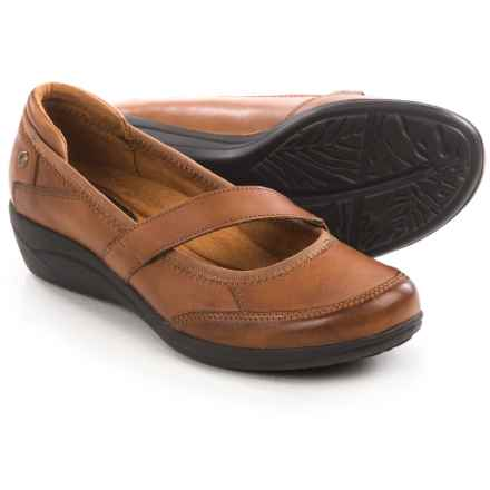 Hush Puppies Velma Oleena Mary Jane Shoes - Leather (For Women) in Tan - Closeouts