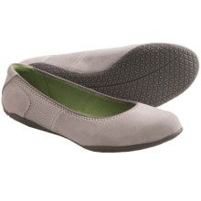 Hush Puppies Zion Toli Shoes - Leather, Flats (For Women) in Cool Grey Leather - Closeouts