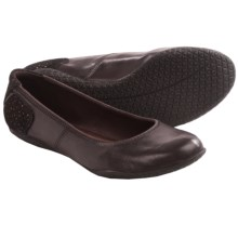 Hush Puppies Zion Toli Shoes - Leather, Flats (For Women) in Dark Brown Leather - Closeouts