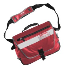 Hyalite Equipment Vancouver Messenger Bag - Waterproof in Red - Closeouts