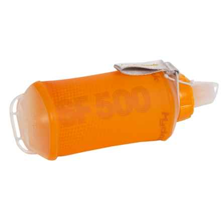 Hydrapak SoftFlask Collapsible Sports Bottle - 17 fl.oz., BPA-Free in Orange/Gray - Closeouts