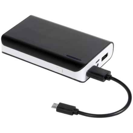 Hype Portable Battery Power Bank - 6600 mAh in White/Black - Closeouts