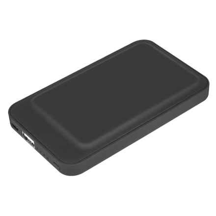 Hype Soft Touch Slim Power Bank - 6000 mAh in Black - Closeouts