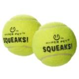 Hyper Pet Squeaks Tennis Balls - 2-Pack