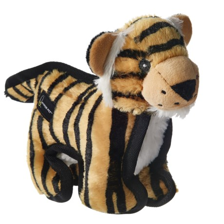 "Hyper Pet Tough Plush Tiger Squeaker Dog Toy - 10"" in Brown"