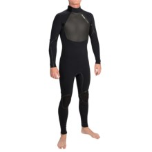 Hyperflex Amp 3 Back Zip Full Wetsuit- 3/2mm (For Men) in Black - Closeouts