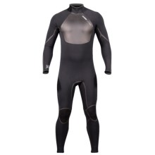 Hyperflex Amp 3 Back Zip Full Wetsuit - 4/3mm (For Men) in Black - Closeouts