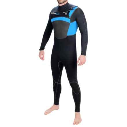 Hyperflex Amp 3 Front Zip Full Wetsuit - 4/3mm (For Men) in Black/Blue - Closeouts