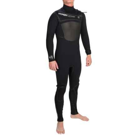 Hyperflex Amp 3 Front Zip Full Wetsuit - 4/3mm (For Men) in Black - Closeouts
