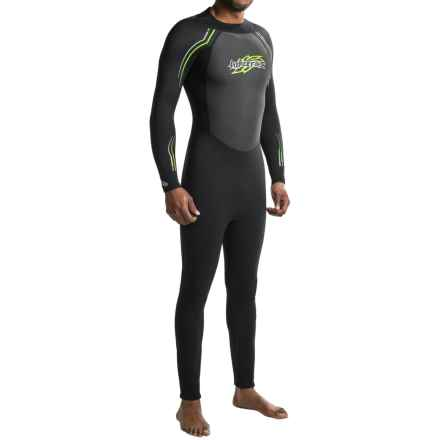 Hyperflex AXS Backzip Full Wetsuit - 3/2mm, Long Sleeve (For Men) in Black - Closeouts