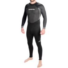 Hyperflex Pipeline Full Wetsuit - 3/2mm (For Men) in Black/Grey - Closeouts