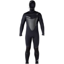 Hyperflex Skull Hooded Front Zip Full Wetsuit - 4mm (For Men) in Black - Closeouts