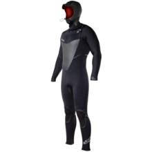 Hyperflex Skull Hooded Front Zip Full Wetsuit - 5/4/3mm (For Men) in Black - Closeouts