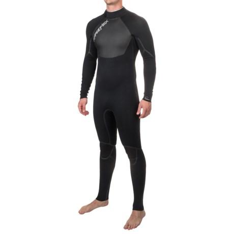 Hyperflex Voodoo Back-Zip Full Wetsuit - 3/2mm, Long Sleeve (For Men) in Black