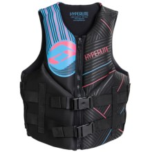 Hyperlite Indy PFD Life Jacket - Type III (For Women) in Pink/Blue - Closeouts