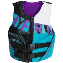 Hyperlite Profile PFD Life Vest - Type III (For Women) in Black/Light Blue/Purple/White - Closeouts