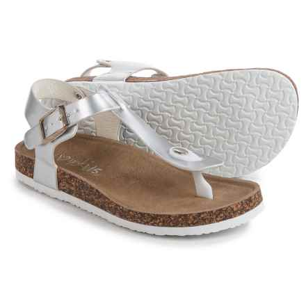 I Love Yokids Gabble Sandals (For Little and Big Girls) in Silver - Closeouts