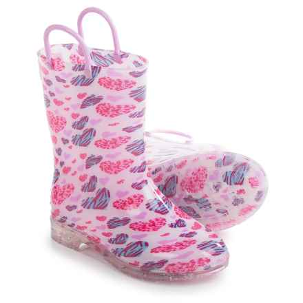 I Love YoKids Melinda Rain Boots - Waterproof (For Toddlers and Little Girls) in Pink Hearts - Closeouts