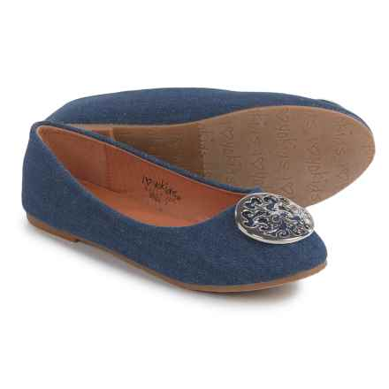 I Love Yokids Sally Ballet Flats (For Little and Big Girls) in Denim - Closeouts