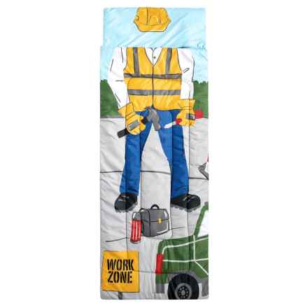 I Want to be a Construction Guy Sleeping Bag (For Kids) in Blue Multi - Closeouts