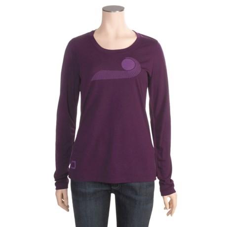 I/O Bio Merino Signature T-Shirt - Long Sleeve (For Women) in Jelly