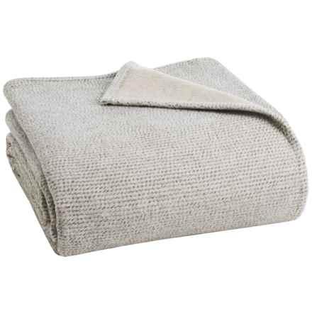 Ibena Nobelesse Bed Blanket - Queen in Gray/Beige - Closeouts