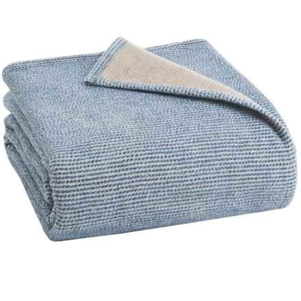 Ibena Nobelesse Bed Blanket - Queen in Navy/Gray - Closeouts