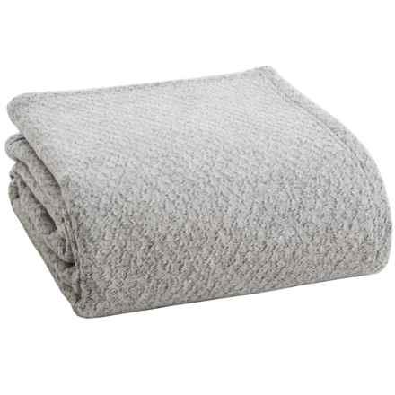 Ibena Noblesse Diamond Optics Bed Blanket - King in Gray - Closeouts