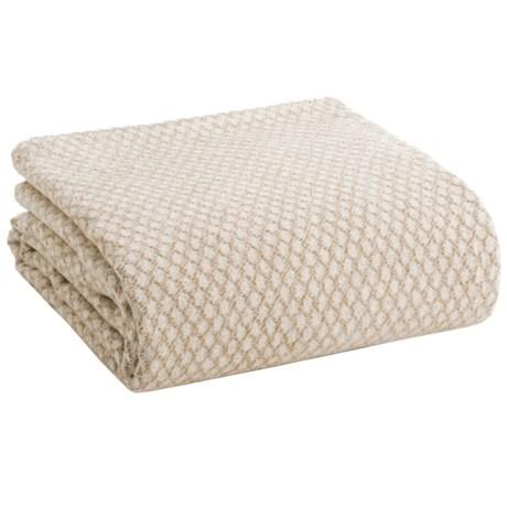 Ibena Noblesse Diamond Optics Bed Blanket - Queen in Camel