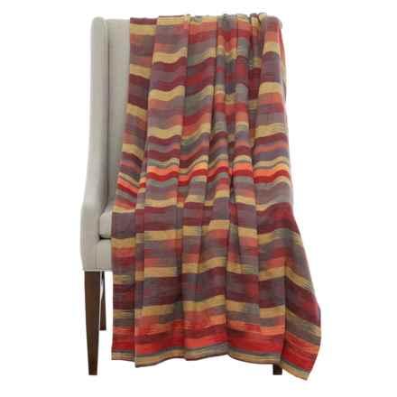 """Ibena Southwest Print Throw Blanket - 60x80"""" in Red/Orange/Gray - Closeouts"""