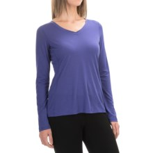 Ibex All Day Long V-Neck Shirt - Merino Wool, Long Sleeve (For Women) in Iris - Closeouts