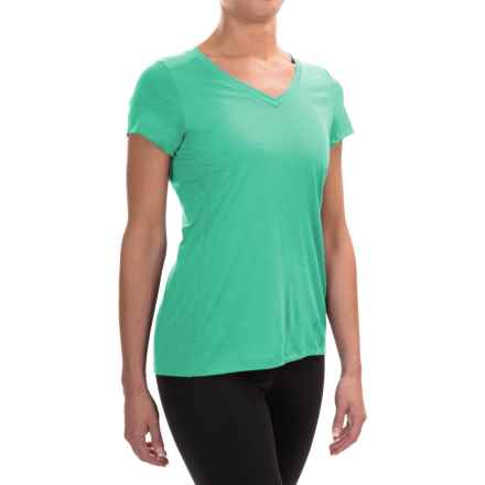 Ibex All Day Long V-Neck Shirt - Merino Wool, Short Sleeve (For Women) in Koru - Closeouts