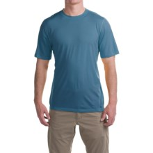 Ibex All Day T-Shirt - Merino Wool, Short Sleeve (For Men) in Blueprint - Closeouts